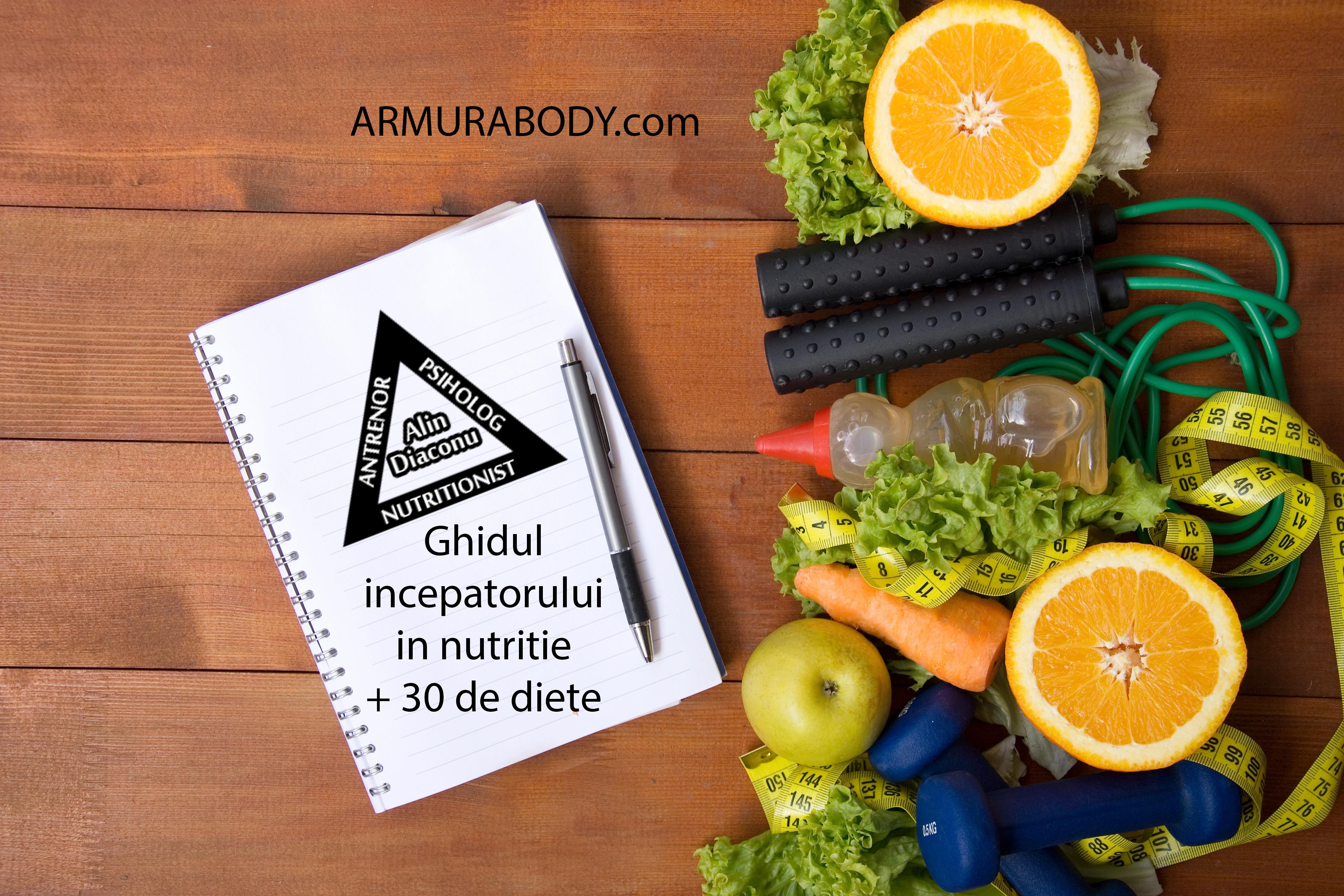 Ghidul incepatorilor in nutritie+30 diete
