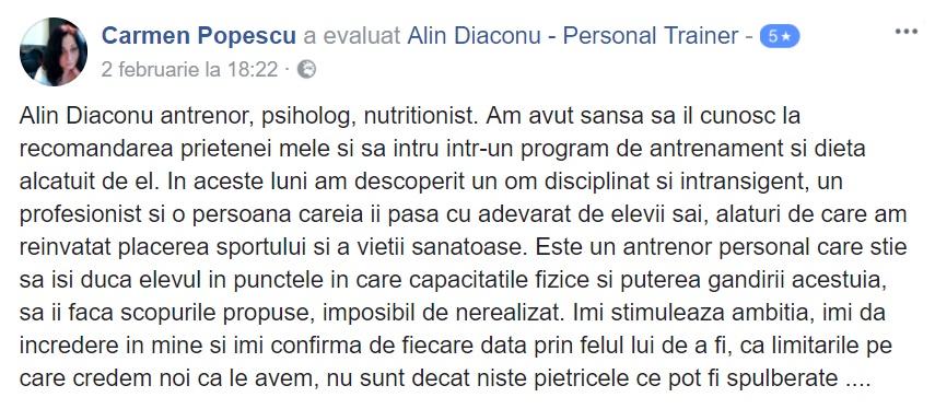 1- recenzie armurabody carmen popescu dieta alin diaconu nutritionist psiholog bucuresti antrenor dieta regim slabire eficient eficienta sector 6